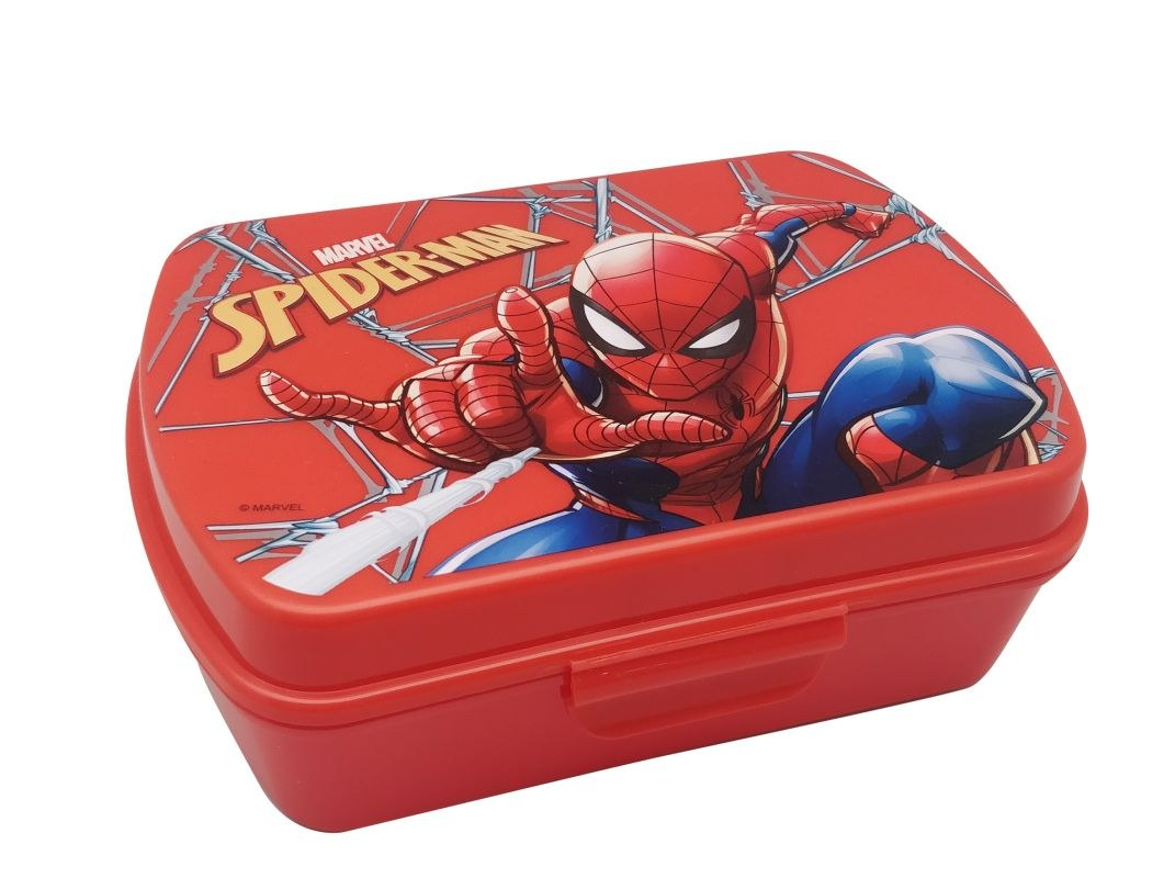 EUROSWAN Box na svačinu Spiderman red Plast, 16 x 12 x 5 cm