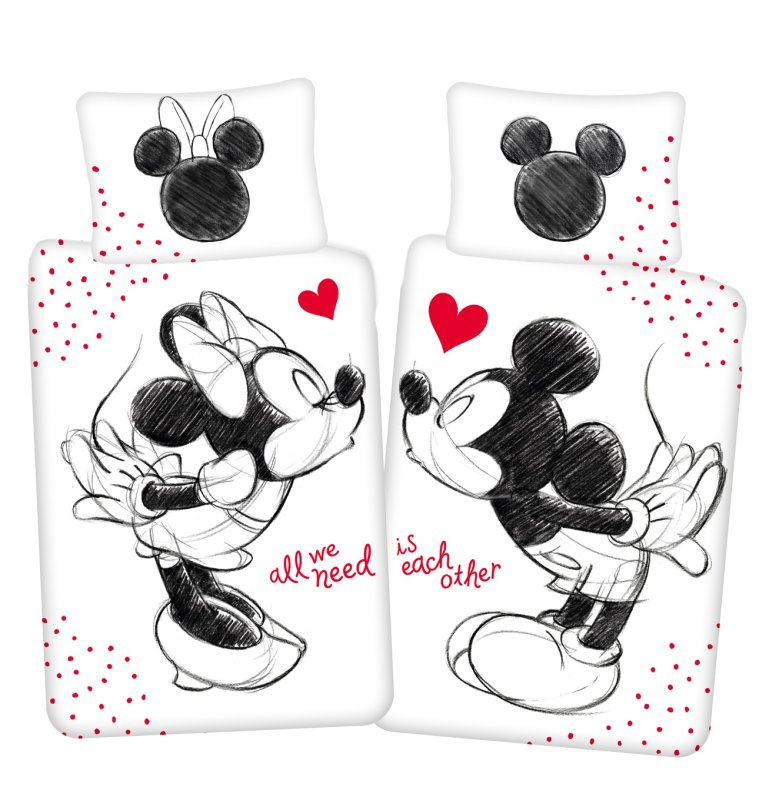 JERRY FABRICS Povlečení Mickey a Minnie All We Need  Bavlna, 140/200, 70/90 cm